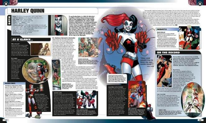 A sample page, featuring Super-villain Harley Quinn