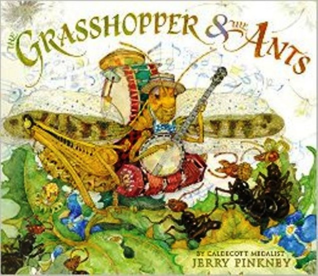 the ants and the grasshopper This version of 'the ant and the grasshopper' features a lazy, napping queen bee and a disco-loving grasshopper the script can be adapted to suit a slightly larger cast by doubling the number of ants and creating simple funny lines for them.
