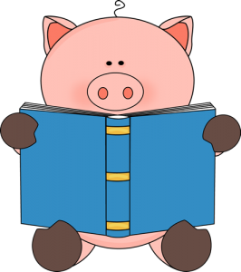 pig-reading-book